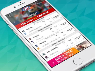 AFL Live Official App app afl mobile personal