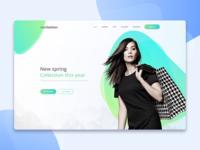 Landing page for Newfashion e-commerce fashion