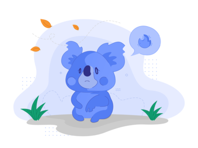Sad Koala Illustration