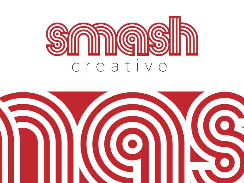 Introducing Smash Creative minimal flat typography vector branding logo design