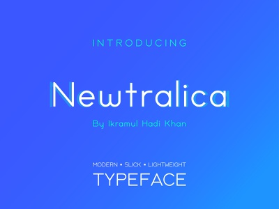 Newtralica Sans Serif Typeface luxury beautiful fashion logo premium exclusive lightweight light slick modern font family font design typeface font