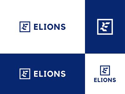 Elions creative logo modern minimalist logo business logo design modern logo menswear fashion brand clothing corporate e icon letter e logo grid logo logo design logo