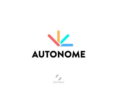 Autonome - Engineering Logo graphobian flat logo company logo technology logo engineerng logo autonome creative logo minimalist logo design business logo design modern minimalist logo modern logo logo design logo