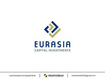EURASIA CAPITAL INVESTMENTS bank logomark business logo emblem geometric modern corporate logo financial logo capital investment logo design logo