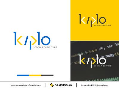 KIPLO - Coding The Future graphobian kiplo company logo startup company business logo design coding logo modern logo wordmark logo website logo web design logo web development logo logo design logo