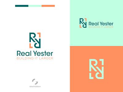 Real Yester graphobian graphic design minimal brand identity unused business logo design combination mark modern logo branding brand mark corporate brand corporate logo logo design logo