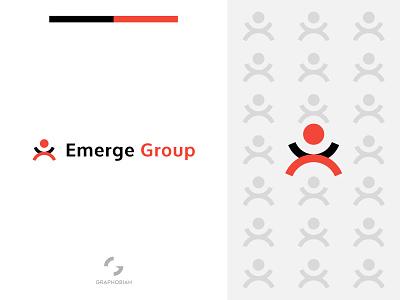 Emerge Group corporate brand icon icon brand mark branding graphobian talent logo emerge logo geometric logo futuristic logo recruitment company modern minimalist logo abstract logo modern logo recruiting agency recruitment logo graphic design logo design logo