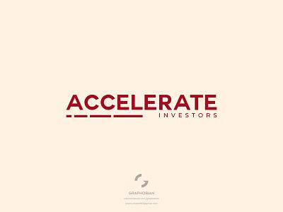 Accelerate Investors graphobian redesign investment company modern minimal clean wordmark logo corporate logo minimalist logo design business logo design modern minimalist logo modern logo design logo design logo