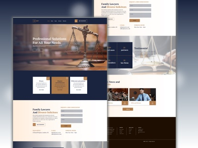 professional lawyer landing page trendy design photoshop ui designer ui design ui  ux professional lawyer landing page mobile app portofolio landing page illustration icon graphic design figma design branding adobexd