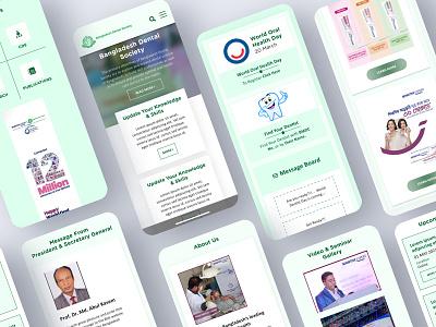 Bangladesh Dental Society adobe xd graphic design website design android app ui ux designer online course app best online course app mobile app ui design templates mobile app