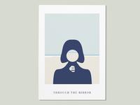 Through the mirror design vector art colors minimalistic poster concept minimal jcimagination illustration