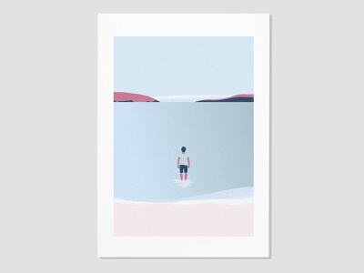 Peacefulness - Wanaka Lake landscape relax calm peacefulness lake minimalistic vector vector art concept poster design minimal jcimagination illustration