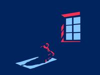 Our Back Tell Stories minimalistic minimal lights night jcimagination vector art popcolors illustration conceptual