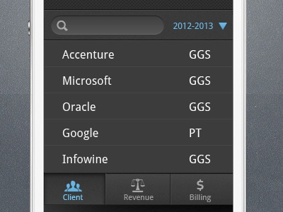 Android UI Screen android ui screen listing