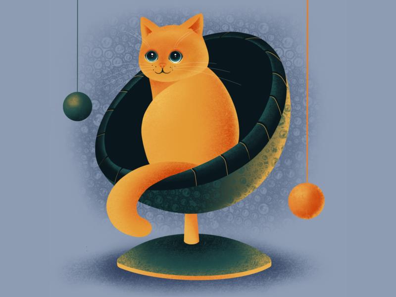 Cute Ginger Cat illustrator animal art animal ipadproart procreate brushes procreate tutorial procreate app animal illustration cat illustration procreate art procreate