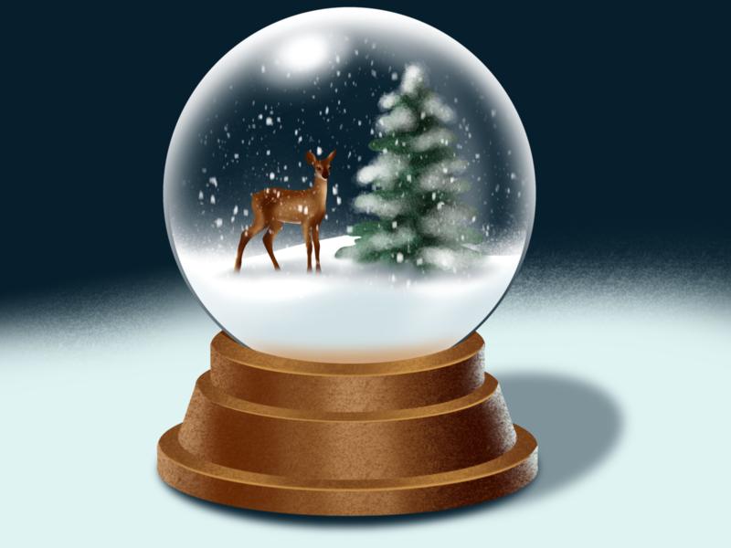 Snow Globe - Procreate Tutorial ipadproart design procreate brushes procreate app procreate tutorial procreate art snow globe globe drawing ipadart illustration procreate winter snow
