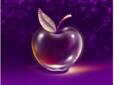 Glass Apple procreate app logo design ipadproart drawing procreate art procreate tutorial glass apple realistic realism apple glasses procreate illustration