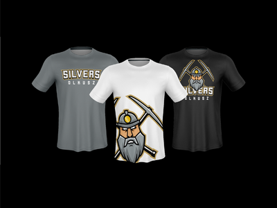 Silvers Olkusz - Fan shirts design american football brand identity brand branding sport american football mascot design logo shirts shirt fan olkusz silvers