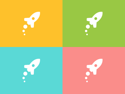 Gotowy do mowy - Color versions rocket monochrome colors color vector signet olkusz minimal logo design brand identity logo design brand branding