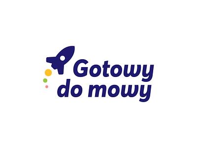 Gotowy do mowy - Logo design rocket vector signet minimal logo design brand identity logo design brand branding