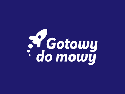 Gotowy do mowy - Monochrome logo design monochrome rocket vector signet olkusz minimal logo design brand identity logo design brand branding