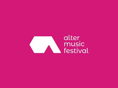 Alter Music Festival - Logo design alternative a letter concert festival music vector signet minimal logo design brand identity logo design brand branding