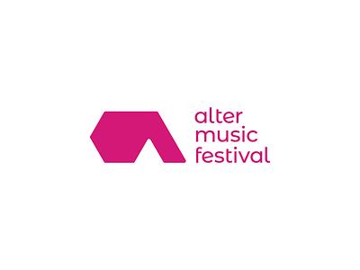 Alter Music Festival - Logo design a letter alternative festival music concert pink signet vector minimal logo design brand identity logo design brand branding