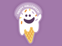 Melting Ghost on a Waffle Cone