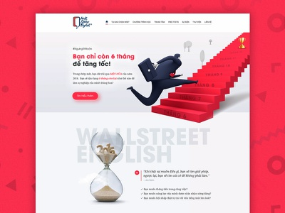 Wall Street ENglish - Landing Page red promotion page landing page