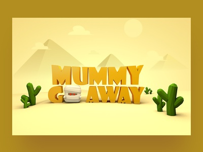 3D Final exam - Mummy Goaway mummy 3d game cinema4d 3d