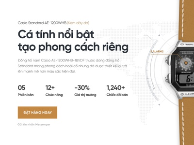 Casio Landing Page Concept uisml nostalgic landing page watch casio watch