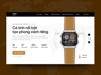 Casio Landing Page Concept watch uisml nostalgic landing page casio watch