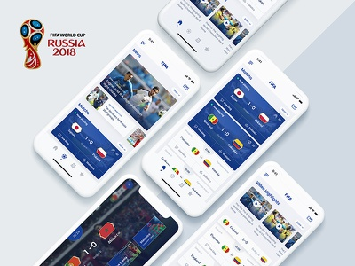 Fifa World Cup 2018 App Re-design soccer app football app uisml world cup fifa