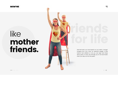 Like Mother - Like Best Friend uidesign mother mom friends uisml landing page