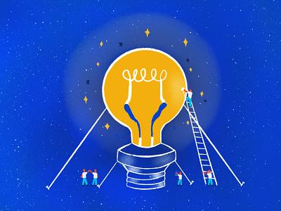 Teamistry illustration menlopark lightbulb edison podcast atlassian teamistry