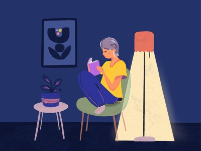 Bedtime Story night anxiety rest plant lamp reading bedtime story bedtime
