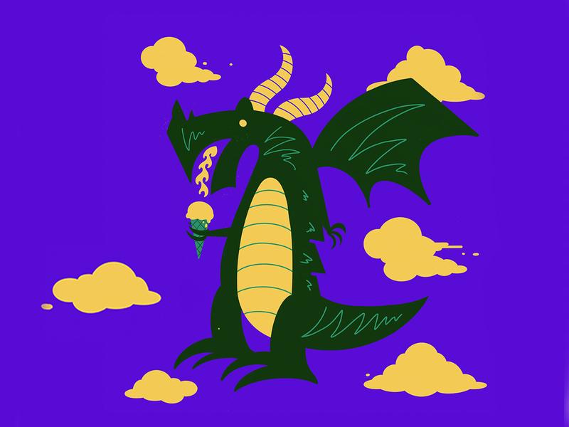 Dragon illustration chattanooga design underwear dragon meundies
