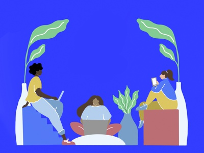 The Women's Fund procreate design education covid19 women chattanooga illustration fundraiser womens march womensfund