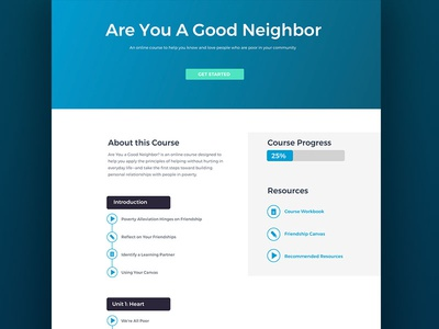 Online Learning Course Mockup