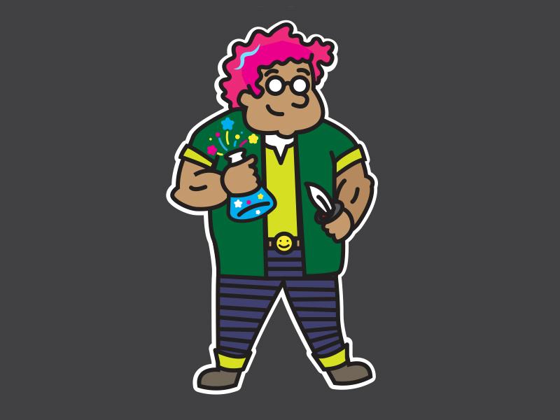 """Dr."" James Dobbson cartoon design character board games illustration dnd"