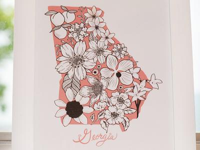Georgia Flower Print