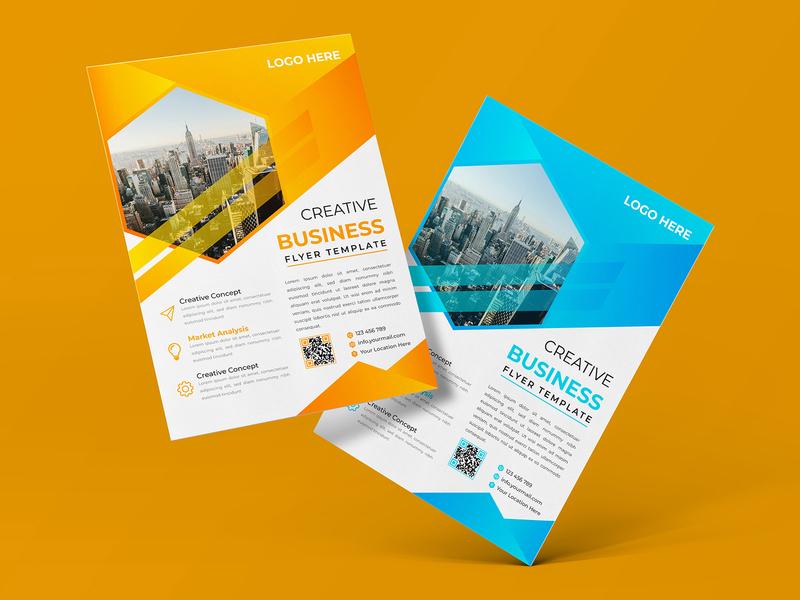 Creative Business Flyer business modern flyer design flyer brochure corporate illustration design corporate flyer brand identity agency