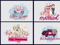 watercolor logo design signature feminine watercolor signature logo design signature logo watercolorlogo design watercolor logo feminine logo design feminine logo
