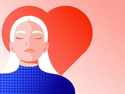 Illustration for Storytel fashion woman mindfulness meditation mindful girl illustration minimal illustrator editorial illustration
