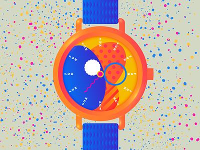24/7 Fun Time fun relax illustrator design fashion minimal watch design watch vector illustration illustration editorial illustration