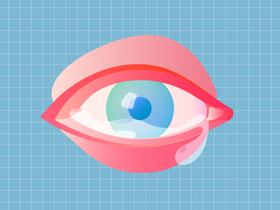 Power of sadness eye emotions gradients feelings teardrop mindfulness minimal meditation illustration editorial illustration