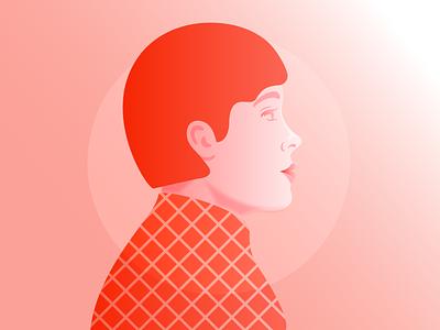 Portrait gradient fashion relax mindful fashion illustration girl woman portrait minimal editorial illustration