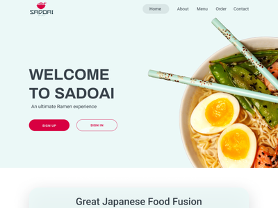 Landing page for Sadoai landing page design web design landing page website ui