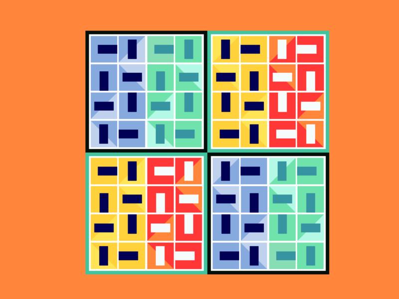 RECT geometric cube color graphic vector illustration art