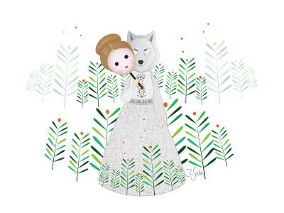 Wolf Woman vector artist vector illustration vectorart mask masked character design wolfwoman illustration art illustrator flat illustration flat design characterdesign wolf illustration